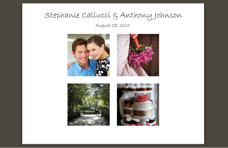 Sample wedding website