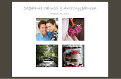 Sample wedding website small